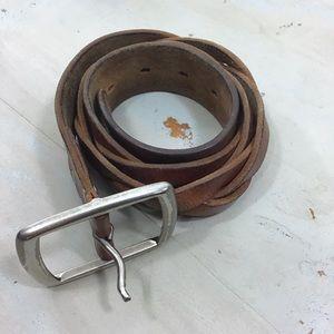 Timberland Braided Leather Belt
